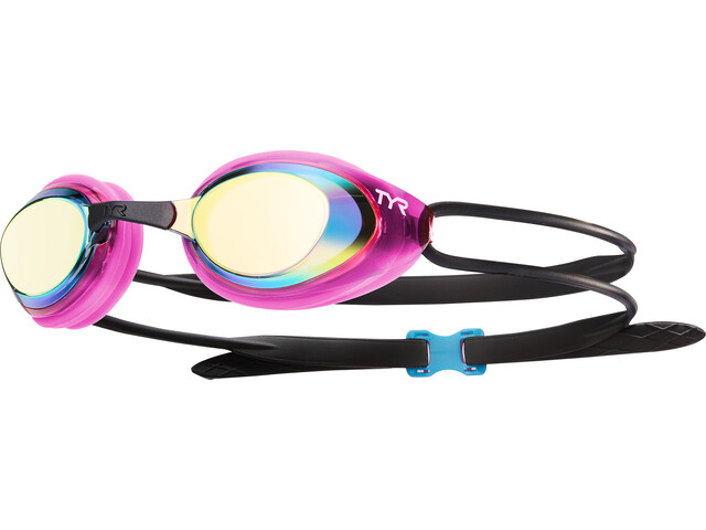 TYR Black Hawk Racing Mirrored Goggles Dames, gold/pink